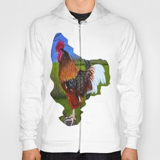 Rooster in the back yard Hoody