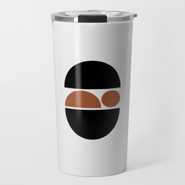 Sleeping Baby - Zen Minimalist Design - Black & Tan Travel Mug