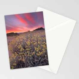 Magical clouds of light at sunset Stationery Cards