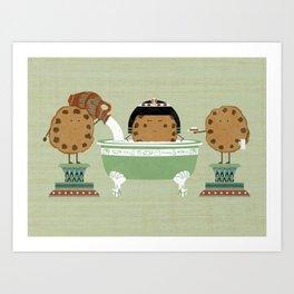 Cook test Art Print