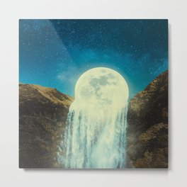 Moon waterfall  Metal Print