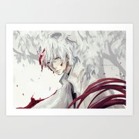 tokyo ghoul Art Prints featuring Unfairness - Tokyo Ghoul: RE by Augichii