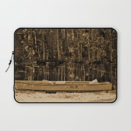 Boat And Swamp Waters Laptop Sleeve