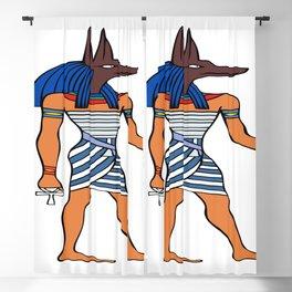 Ancient Egyptian deities Anubis Blackout Curtain