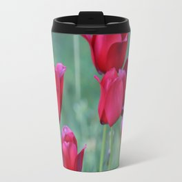 Ruby Red Tulip Garden Travel Mug