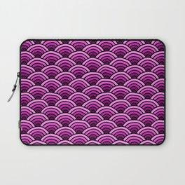 Japanese Waves Seigaiha Pink Laptop Sleeve