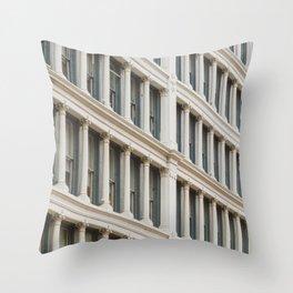 Column by Column in Soho Throw Pillow