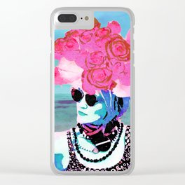 Flower woman Clear iPhone Case