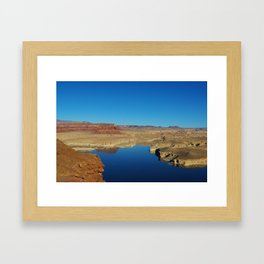 View of Colorado River from Hite overlook, Utah Framed Art Print