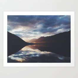 Lake Crescent Dusk   Art Print