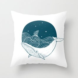 Whale dream Throw Pillow