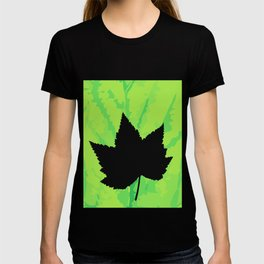 Maple leaf silhouette - Wood sign - The Five Elements T-shirt