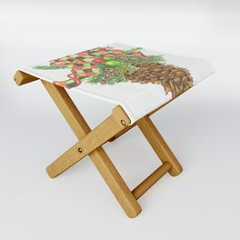 Holiday Pine Cone Folding Stool