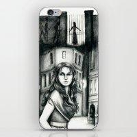 les miserables iPhone & iPod Skins featuring Les Miserables Portrait Series - Eponine by Flávia Marques