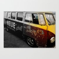 vw bus Canvas Prints featuring VW Bus  by Coastal Life- Interpretations by Brian G