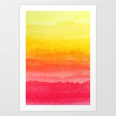 colorful watercolor Art Print