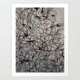 Ink pen caos Art Print