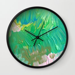 Enchanted Garden Wall Clock
