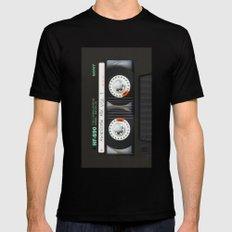 cassette classic mix Black Mens Fitted Tee MEDIUM
