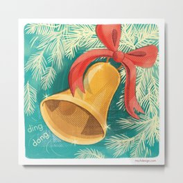 Holiday Bell Metal Print