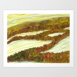 Marsh 9 Art Print