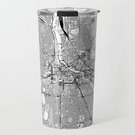 Minneapolis White Map Travel Mug