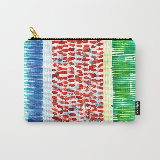 Joyful Stacked Patterns in High Format Carry-All Pouch