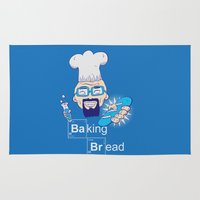 baking Area & Throw Rugs featuring Baking Bread by DarkChoocoolat