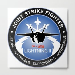 Lightning II: The F-35 Joint Strike Fighter Metal Print