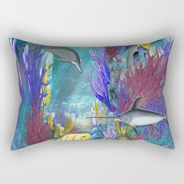 Under The Sea Tropical Coral Reef Rectangular Pillow