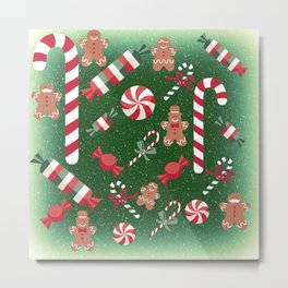 Christmas Candy Cheer Metal Print