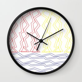 Zig-Zag Closed Lines | Abstract Minimalism Wall Clock