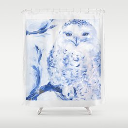 Insight: Snowy Owl Shower Curtain