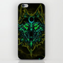 Mythical Neon Yellow Wolf iPhone Skin