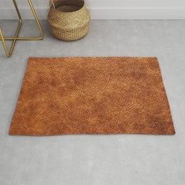 Brown vintage faux leather background Rug