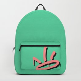 Pastel Graffiti Crown Mint Backpack