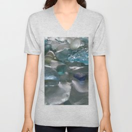 Ocean Hue Sea Glass Assortment Unisex V-Neck