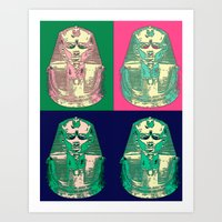 King Tut Goes to A Rave Art Print