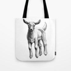 White Goat Baby SK133 Tote Bag