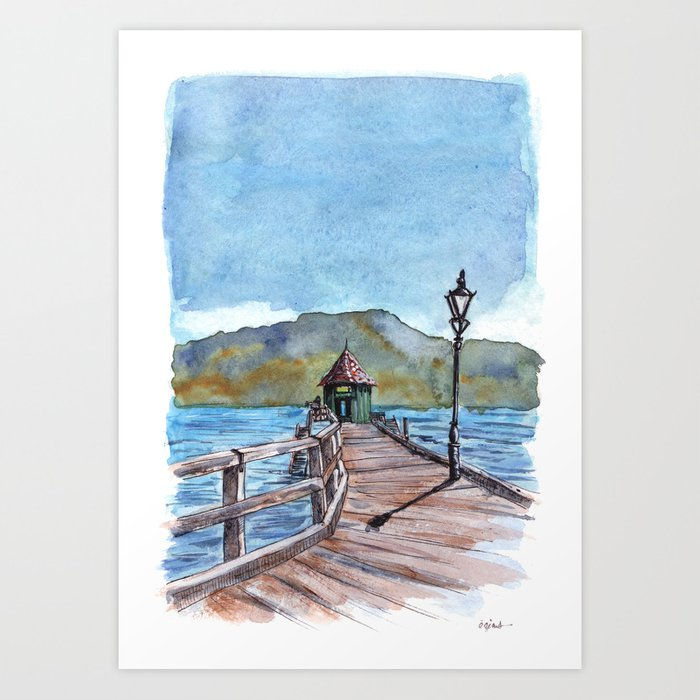 Akaroa , South Island , New Zealand Art Print
