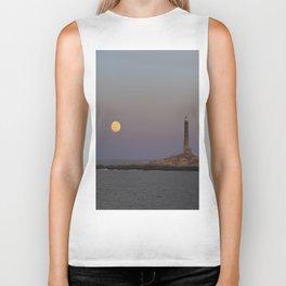Moonrise Over Thacher Island Biker Tank