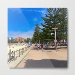 Manly Beach Esplanade  Metal Print