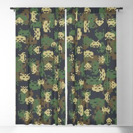 Invaded Camo WOODLAND Blackout Curtain