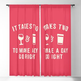 Wine & Coffee Funny Quote Blackout Curtain
