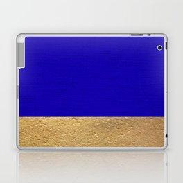 Color Blocked Gold & Cerulean Laptop & iPad Skin