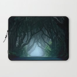 Cold foggy morning in Dark Hedges Laptop Sleeve