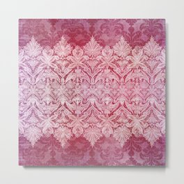 ABERDEEN HEIRLOOM, LACE & DAMASK: REBECCA'S RED Metal Print