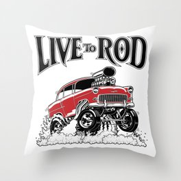 1955 CHEVY CLASSIC HOT ROD Throw Pillow