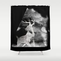 soul Shower Curtains featuring Soul by Mrk Laboratory