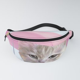 cat with umbrella for no reason Fanny Pack